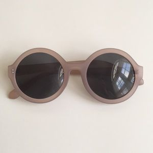 Anthropologie Accessories - Dusty Rose Round Sunglasses